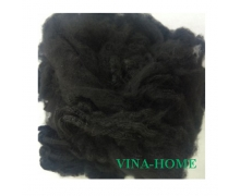 3D Solid Polyester Staple Fiber Black